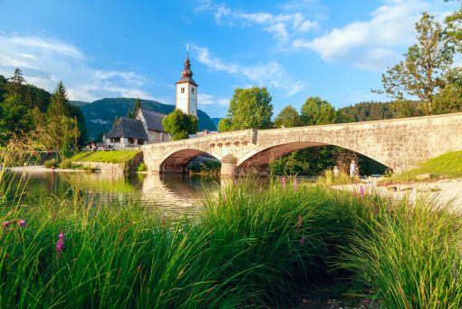 Bohinj bridge and church