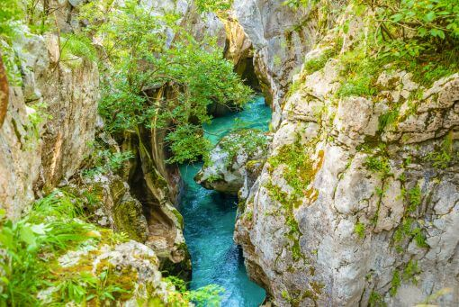 Soca valley gorge