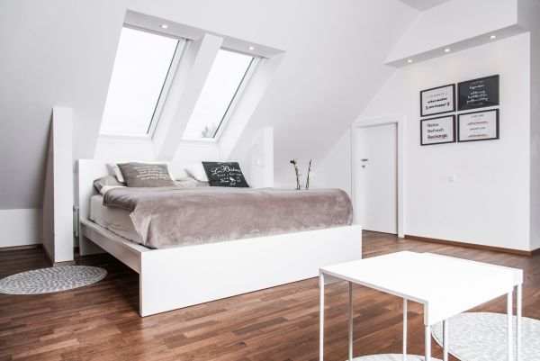 Apartment Bled View double bedroom with velux windows