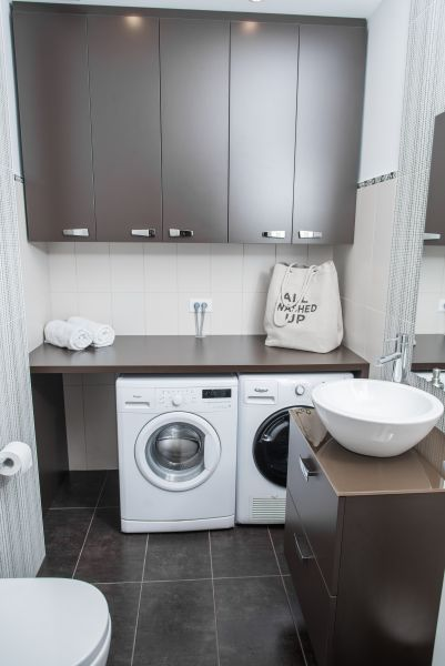 Apartment Bled View lavatory with washing machine and tumble dryer