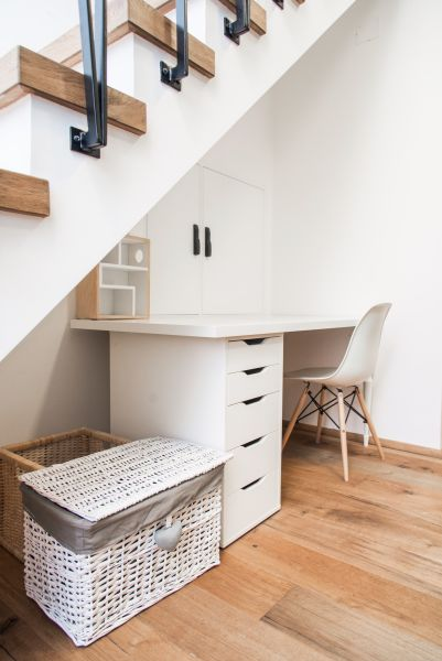 Apartment Bled View stairs and desk