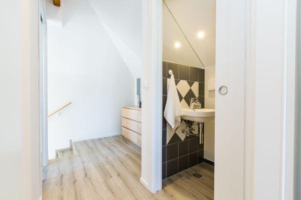 Bathroom and hall