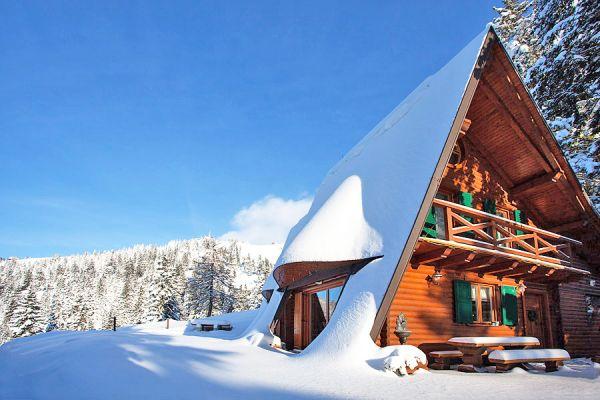Cernic Villas in the snow