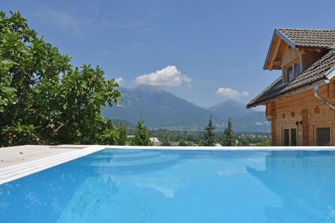Pool and view to mountains