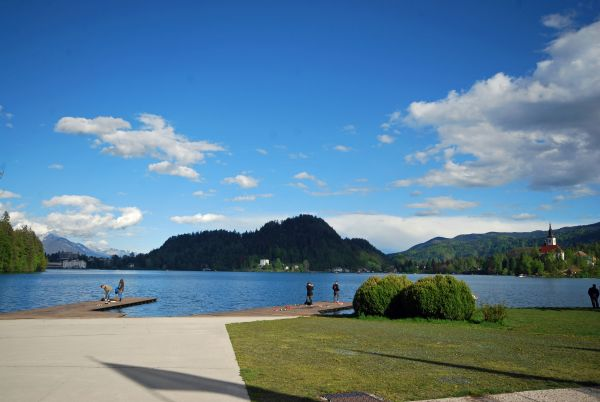 View of Lake Bled beach