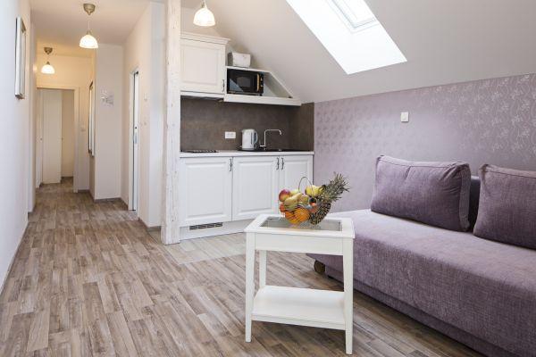 Apartment six kitchenette