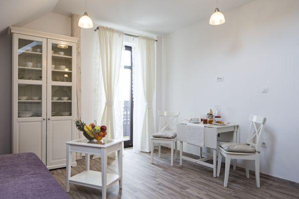 Apartment six living dining