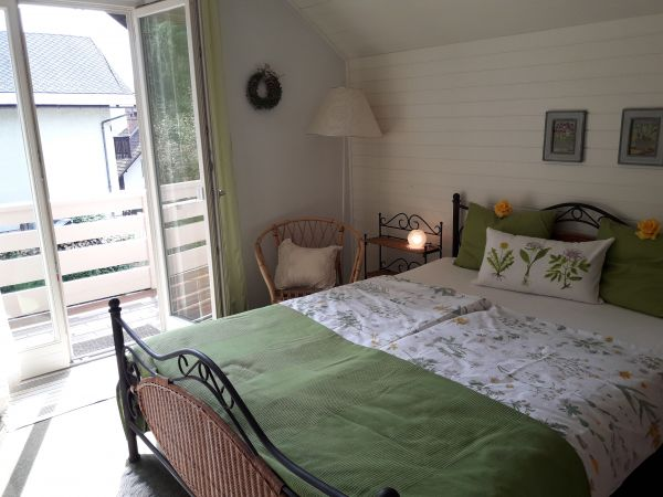 Double bedroom two with balcony access
